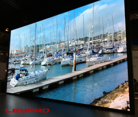 Leyard TW Series 8K video wall at ISE, with 1.2mm pitch (Photo: Business Wire)