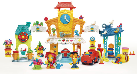 In 2016, Hasbro celebrates the PLAY-DOH brand's 60th birthday with the introduction of PLAY-DOH Town, a new system of play that inspires creative storytelling through Town-themed playsets, vehicles and figures. (Photo: Business Wire)