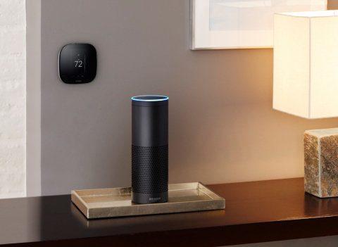 ecobee3 smart thermostat with Amazon Echo (Photo: Business Wire)