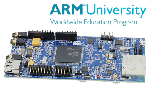 ARM University Program Digital Signal Processing (DSP) Education Kit with Cypress FM4 Starter Kit (P ...