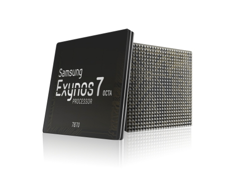 Samsung Exynos 7 Octa 7870 processor for the mid-tier smartphone market. (Photo: Business Wire)