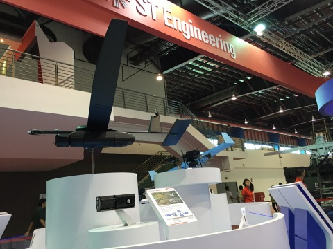 ST Aerospace Skyblade 360 UAV together with the HES Energy Systems fuel cell currently on display at the Singapore Airshow 2016 (Photo: Business Wire)