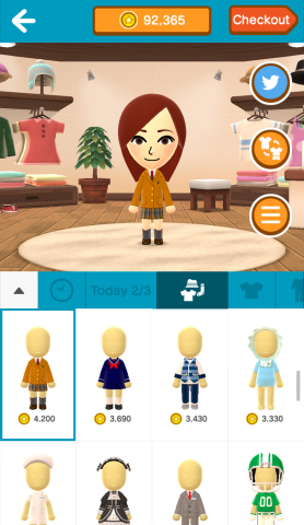 As users experience Miitomo, they'll earn Miitomo coins, which can be redeemed in the in-app shop to get all kinds of cool outfits. (Photo: Business Wire)