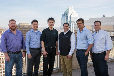 Members of AVX Partners and the Vyopta executive team. From left to right: Josh Stephens, Andrew Chen, Rick Leung, Alfredo Ramirez, Ivan Montoya and Chris Pacitti. Photo by Ben Porter Photography.
