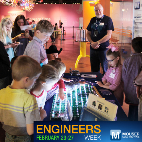 Mouser Electronics will be a major sponsor of Engineers Week, a weeklong event dedicated to inspirin ...