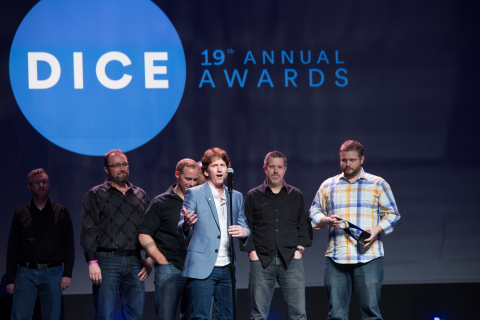 Todd Howard and the Fallout 4 team accept Game of the Year at 19th D.I.C.E. Awards in Las Vegas. (Photo: Business Wire)
