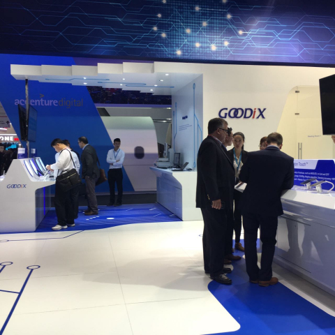 Goodix shows off new wearable technology, including earphones with low-power heart rate sensor, at Mobile World Congress 2016 in Barcelona. (Photo: Business Wire)