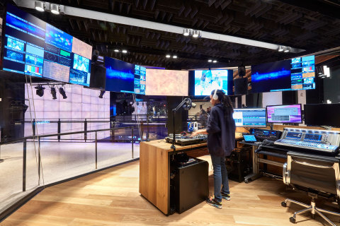 The Studio: The visually stunning, open radio, music and DJ studio, encased in a see-through cube, serves as an interactive hosting space for radio and podcast curators, DJ sets, live recordings, celebrity interviews and more. (Photo: Business Wire)