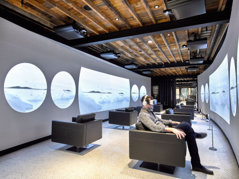 VR Tunnel: Visitors can 'step into' a virtual world and be transported anywhere with Samsung's Gear VR. (Photo: Business Wire)