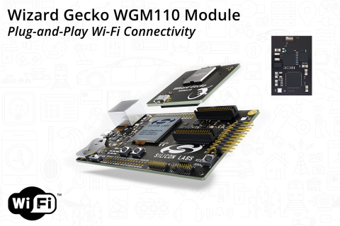 Wizard Gecko WGM110 Module Provides Plug-and-Play Wi-Fi Connectivity (Graphic: Business Wire)