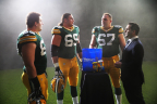 Today Green Bay Packers Offensive Linemen Corey Linsley, David Bakhtiari and Don Barclay, along with sports analyst and ESPN NFL Insider Adam Schefter launched www.MeetTheProtectors.com. (Photo: Business Wire)