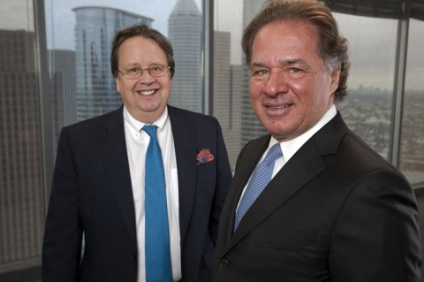 Martin Houston (left) and Charif Souki (right) founding new liquefied natural gas export company cal ...