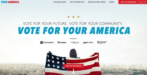 Vote for your America website, YourAmerica.com (Photo: Univision)