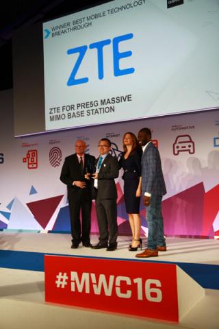 ZTE remporte un Global Mobile Award pour sa station de base Pre5G Massive MIMO lors du salon MWC 201 ...