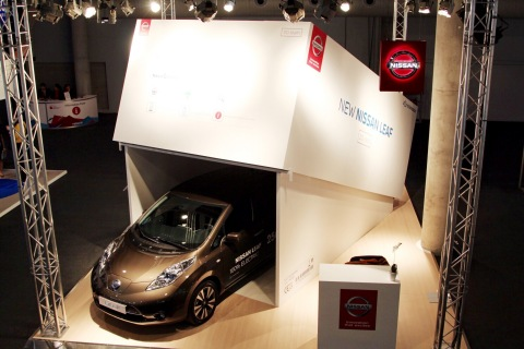Nissan 'unboxes' its latest mobile device at the GSMA Mobile World Congress (Photo: Business Wire)