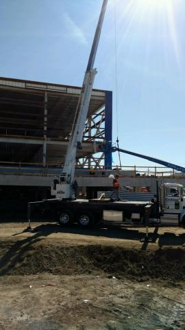 Installation of iconic blue panels begins at relocated IKEA Burbank in Southern California. (Photo: Business Wire)