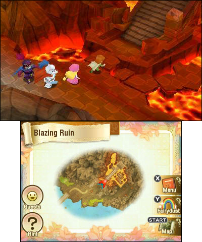 Return to Popolocrois: A Story of Seasons Fairytale features traditional turn-based combat, nearly a hundred quests, a fully featured farming mini-game, dual-language voice acting, community treasure-hunting via the StreetPass feature, multiple difficulty levels and an adjustable random encounter rate! (Graphic: Business Wire)