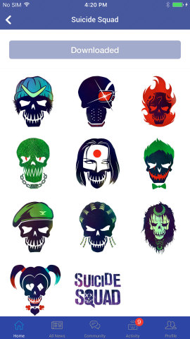 New Suicide Squad emojis available exclusively in DC All Access app. (Photo: Business Wire)