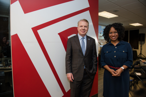 Redfin Chief Economist Nela Richardson and Seattle Mayor Ed Murray (Photo: Business Wire)