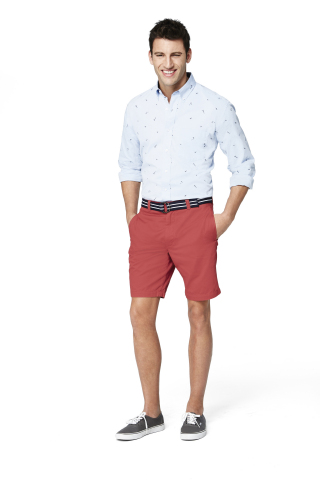 Club Room Nautical Print Button Down Shirt, $49.50; Club Room Shorts, all exclusively at select Macy's stores and on macys.com (Photo: Business Wire)