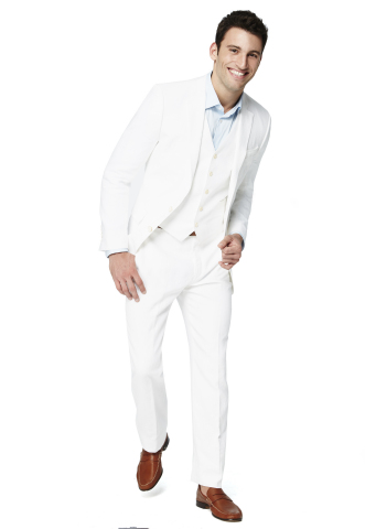 Ryan Seacrest Distinction White Linen three-piece suit, $595, exclusively at select Macy's stores and on macys.com (Photo: Business Wire)