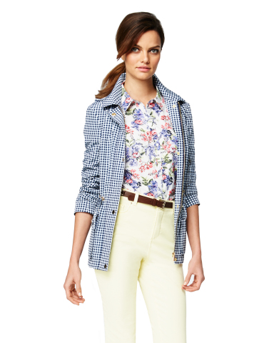 Charter Club Gingham Anorak Jacket, $129.50; Charter Club Floral Print Button-Up Shirt, $59.50; Charter Club Yellow Denim Capri, $54.50, all exclusively at select Macy's stores and on macys.com (Photo: Business Wire)