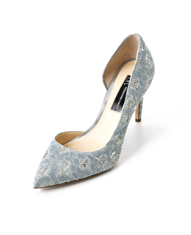 I.N.C. International Concepts Denim D'Orsay Pump, $79.50, exclusively at select Macy's stores and on macys.com (Photo: Business Wire)