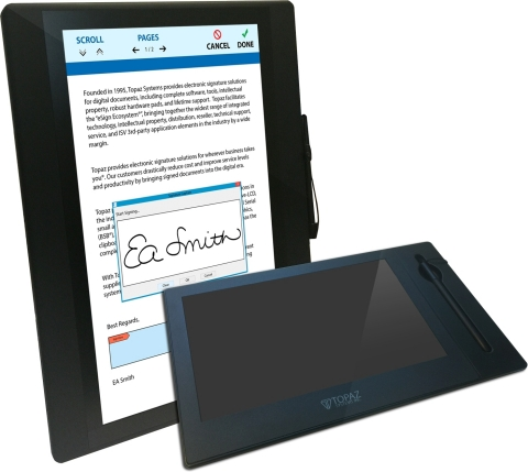 Topaz GemView Tablet Displays (Graphic: Business Wire)