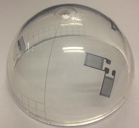 Optomec Aerosol Jet printed dome. (Photo: Business Wire)