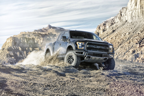 The all-new 2017 Ford F-150 Raptor will feature a high-output version of second-generation 3.5-liter EcoBoost engine, built at Cleveland Engine Plant, and will produce more power with greater fuel efficiency. (Photo: Business Wire)