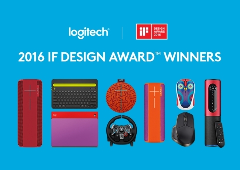 Logitech announced that eight of its products have been selected as 2016 iF DESIGN AWARD™ winners. Of the eight wins, UE ROLL was awarded with an iF Gold Award, Gold Award, the iF DESIGN AWARD's highest honor. (Graphic: Business Wire)