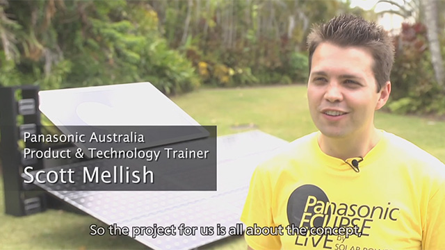 Live streaming of the total eclipse using only Solar Power -Panasonic Eclipse Live- Nov 24, 2012 Port Douglas Australia