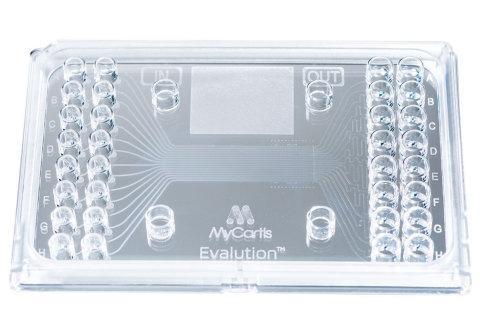 Microfluidic cartridge for MyCartis' Evalution(TM) System (Sony DADC BioSciences GmbH/mphoto)