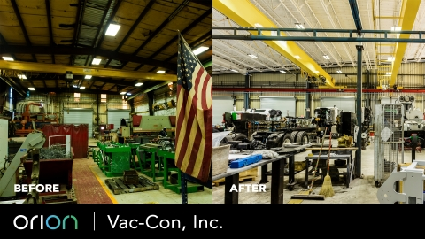 Orion HARRIS LED High Bays installed at Vac-Con, Inc. (Photo: Business Wire)