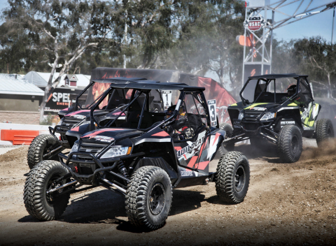 """Enter the """"Race and Ride with Robby Gordon"""" contest for a chance to race an Arctic Cat Wildcat™ X with Robby Gordon during the Stadium Super Trucks race at the Sand Sports Super Show in Costa Mesa, Calif., on September 16-18, 2016. (Photo: Arctic Cat)"""