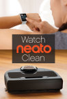 Neato's Botvac Connected robot vacuum can now be controlled through Apple and Android smartwatches (Photo: Business Wire)