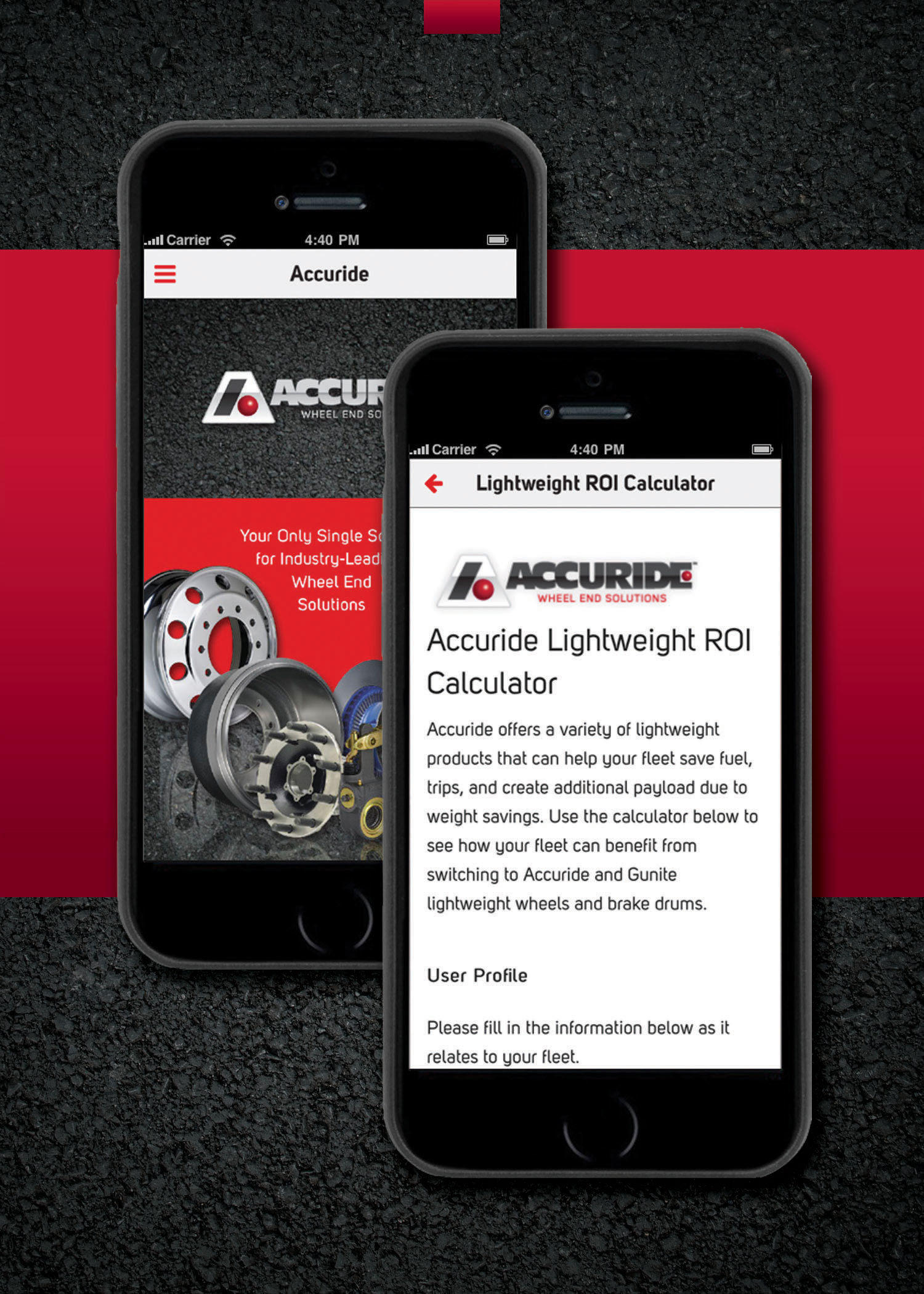 Accuride adds roi calculator to mobile app updates wheels catalog full size keyboard keysfo Gallery