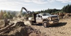 Ford F-450 Super Duty chassis cab logging: Super Duty chassis cab with Ford-designed, Ford-built 6.7-liter Power Stroke® V8 diesel engine increases ratings to 330 horsepower and 750 lb.-ft. of torque – best-ever for Class 4 and Class 5 segments.