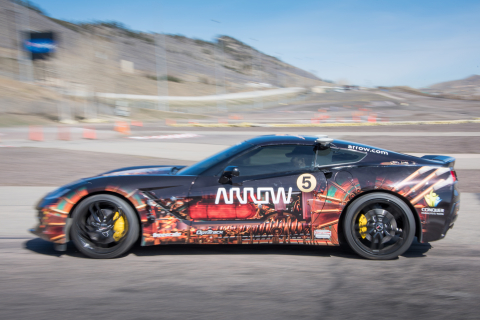 Sam Schmidt driving the SAM car during the final road course engineering test drive in Morrison Colo ...