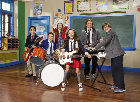 The cast of Nickelodeon's new live-action series, School of Rock. (Photo: Business Wire)
