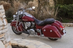 Indian Motorcycle expands its lineup with the all-new 2016 Indian Springfield; a pure, essential touring bike that transforms into a lean urban cruiser in minutes. Shown in Indian Motorcycle Red. MSRP starting at $20,999 (US). Photo c/o Barry Hathaway