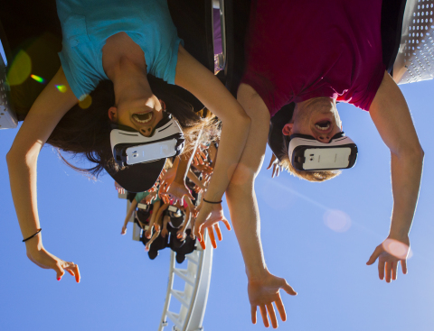 Six Flags Magic Mountain - The New Revolution Virtual Reality Coaster (Photo: Business Wire)