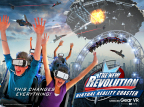 Six Flags Magic Mountain - The New Revolution Virtual Reality Coaster (Graphic: Business Wire)