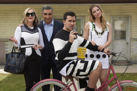 """Pop announces third season of """"Schitt's Creek,"""" starring Catherine O'Hara, Eugene Levy, Daniel Levy and Annie Murphy ahead of its Season Two premiere on March 16 at 8:00 PM, ET/PT (Photo: Business Wire)"""