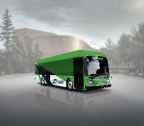 Rendering of St. Albert's long-range, battery-electric bus, supplied and manufactured by BYD. (Photo: Business Wire)