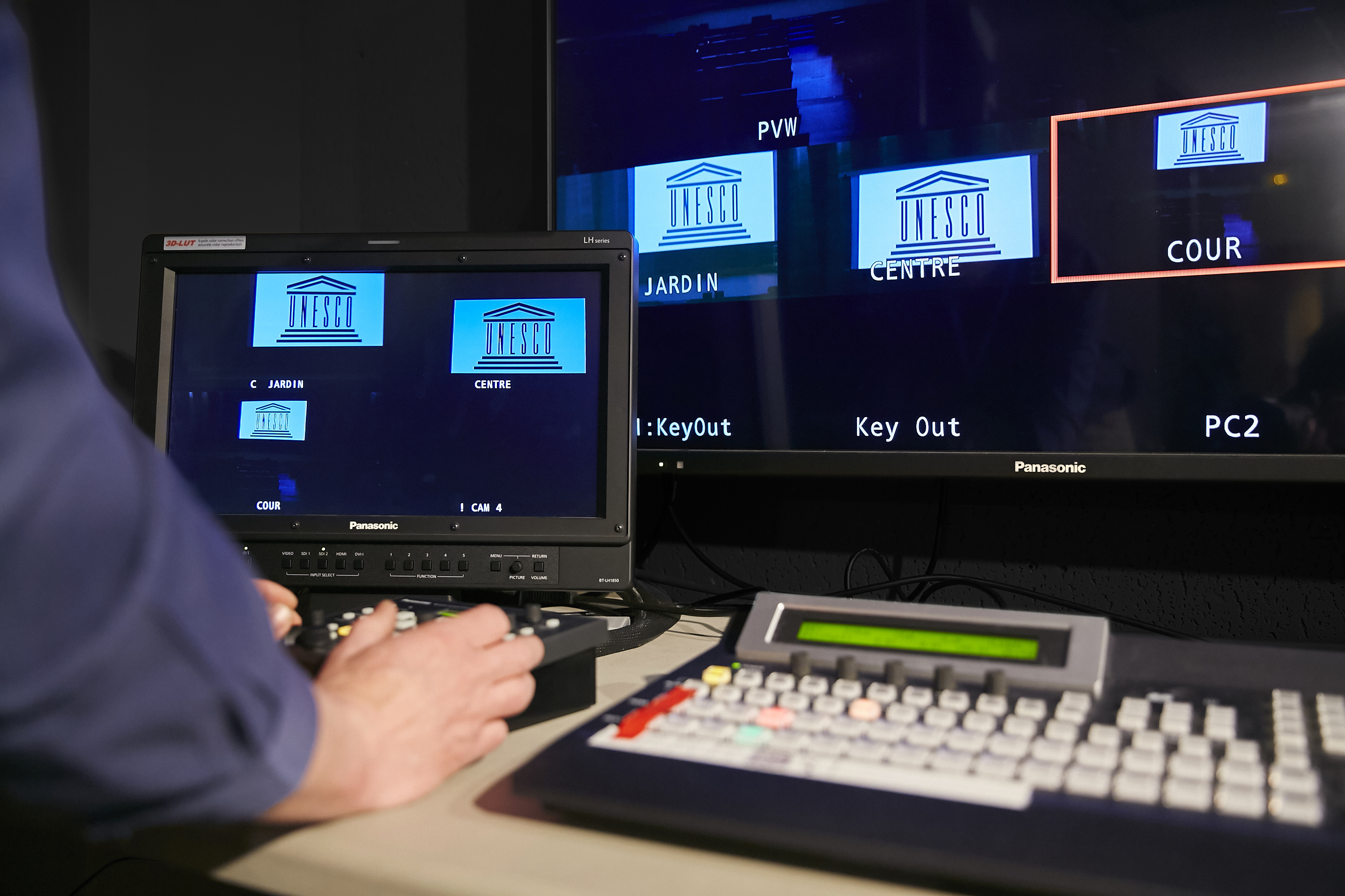 AV equipment installed at the control room of UNESCO Headquarters (Photo: Business Wire)