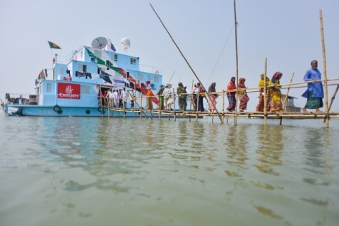 First state-of-the-art Maritime VSATs floating hospital ships (Photo: Business Wire)