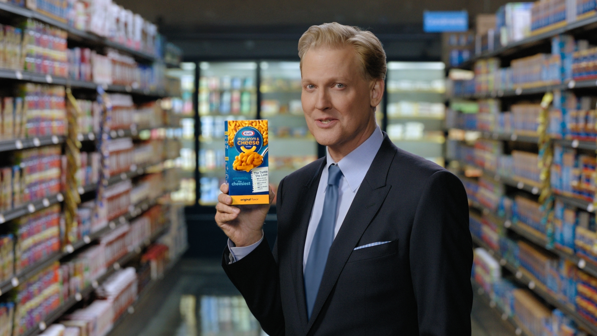 """Kraft Macaroni and Cheese """"It's Changed but it Hasn't"""" Still Image Featuring Craig Kilborn (Photo: Business Wire)"""