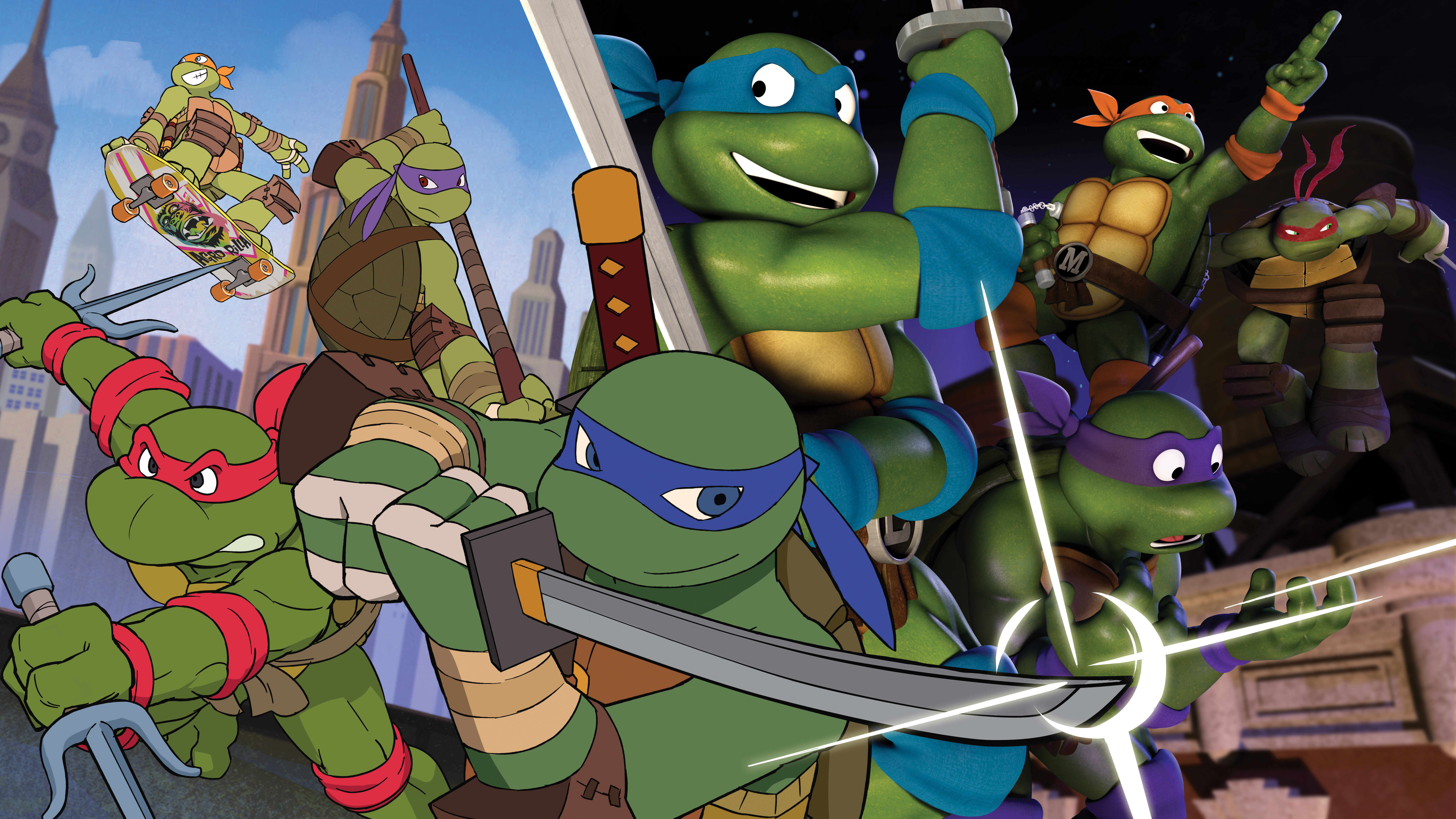 Nickelodeon S Teenage Mutant Ninja Turtles Reunites Original 1980s Turtles And Krang In Epic Time Travelling Episode Sunday March 27 11 A M Et Pt Business Wire