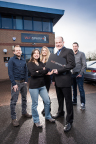 left - Shaun Parish, Janet Valbuena, Rebecca O'Donovan,  Matt O'Donovan, Craig Duffin - right (Photo: Business Wire)